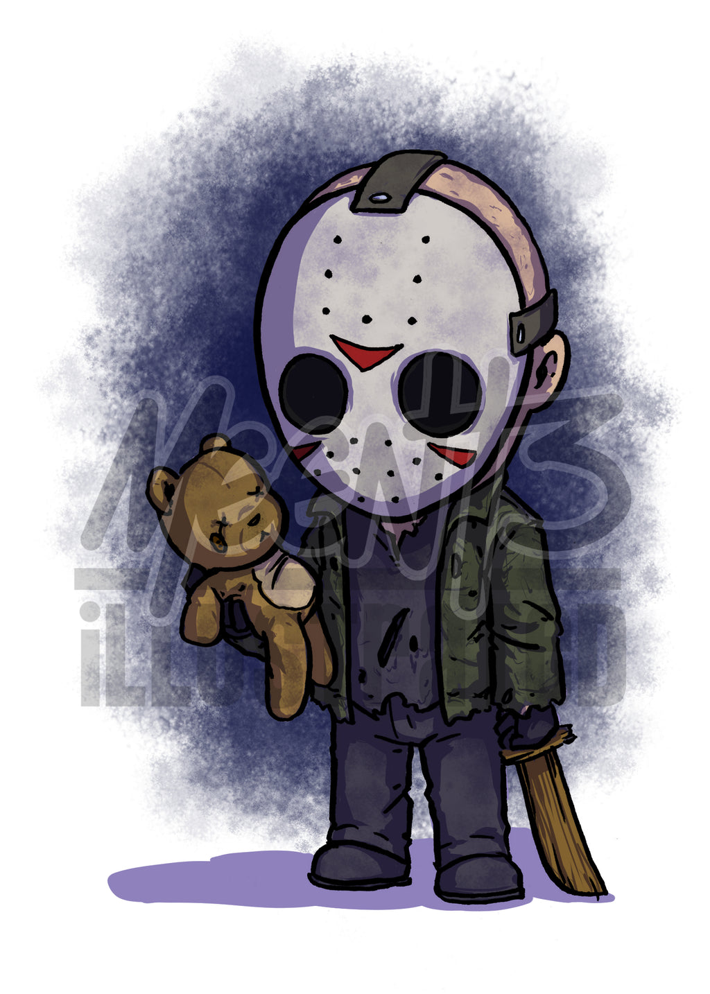 Jason Vorhees - 5x7 Mini Print
