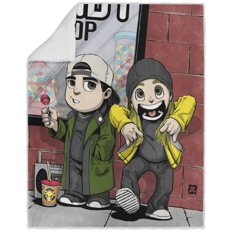 Jay & Silent Bob - Graphic - 50x60 Sherpa Blanket