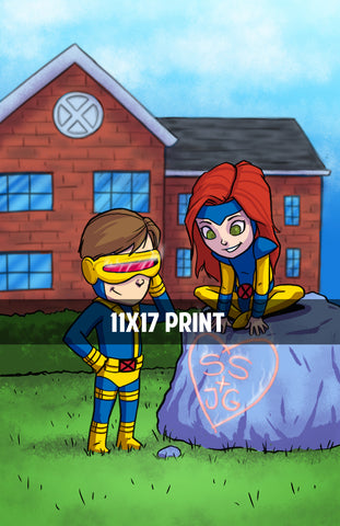 Jean Grey and Cyclops - 11x17 Print