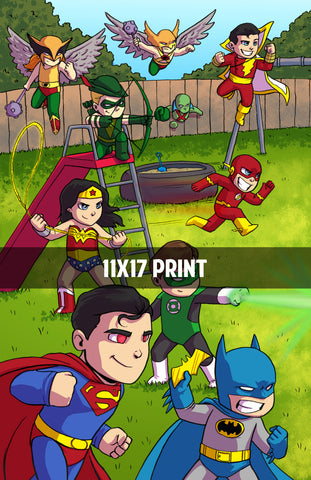 Justice League vs - 11x17 Print
