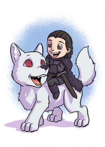 Jon Snow - 5x7 Mini Print