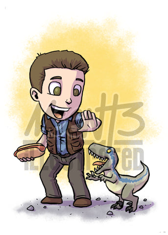 Jurassic World - 5x7 Mini Print
