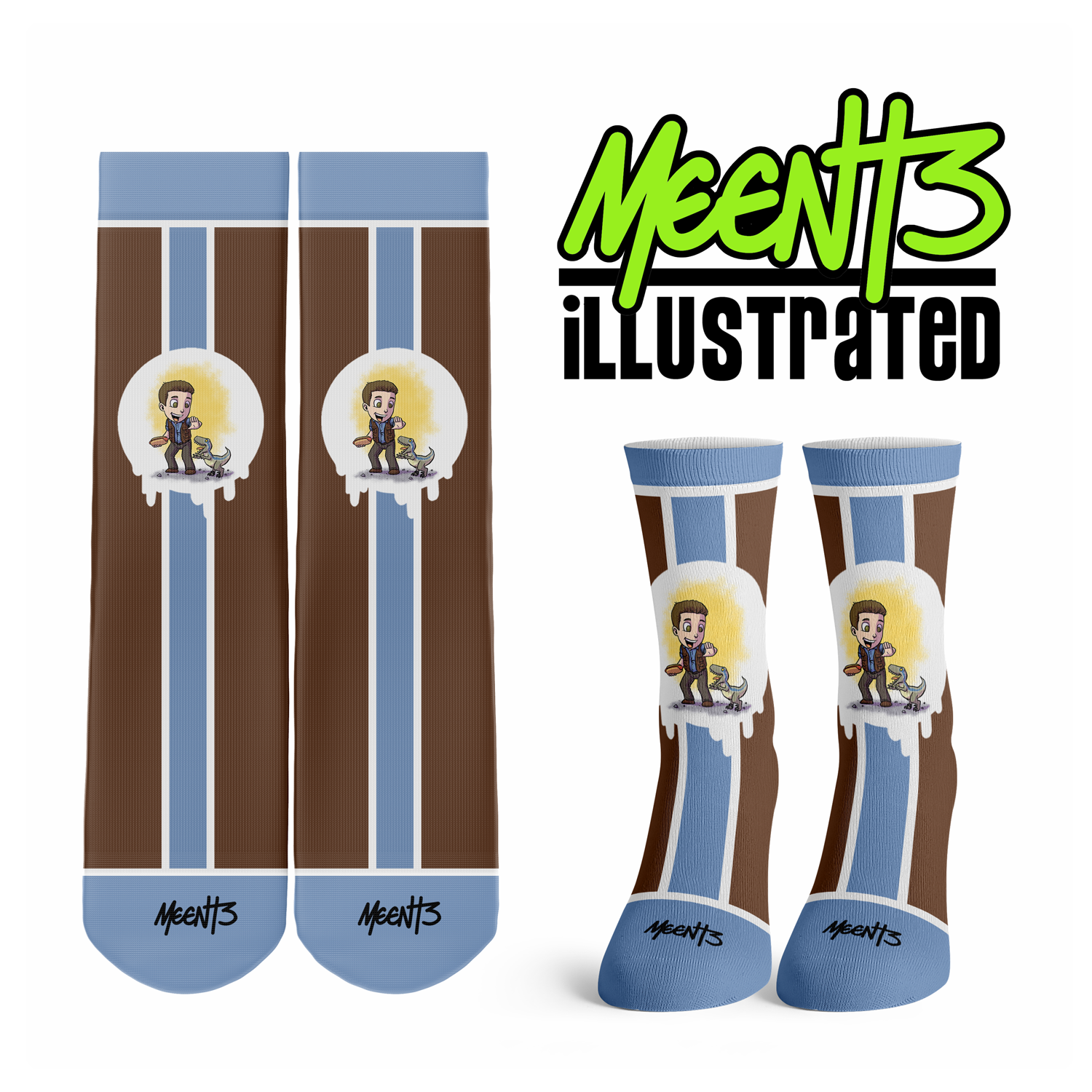 Jurassic World - Character - Streetwear Full Poly Crew Socks