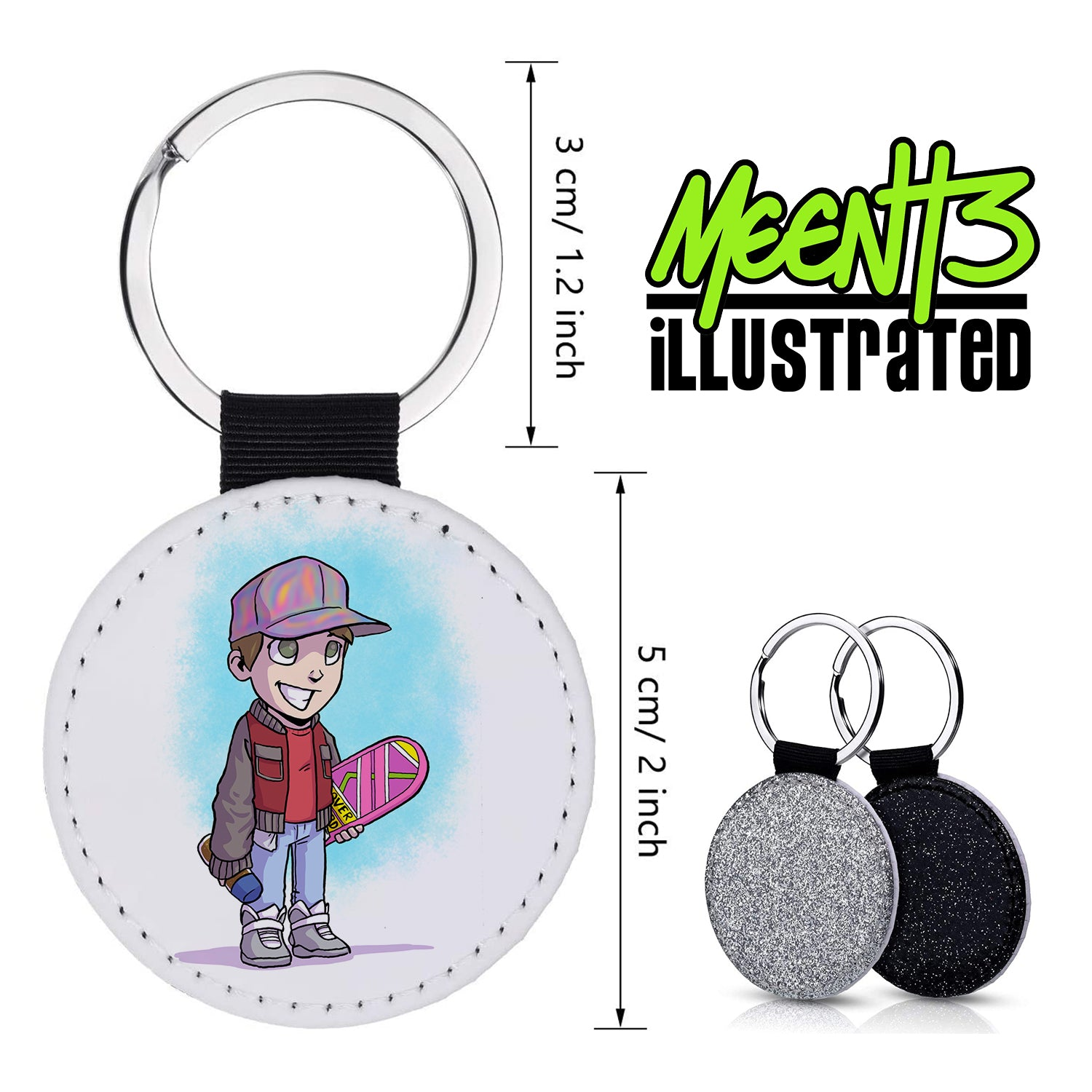 McFly - Character Art - PU Leather Keychain Round with Keyring