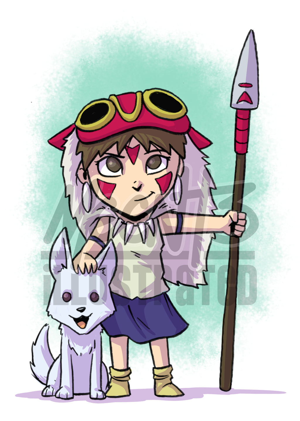 Princess Mononoke - 5x7 Mini Print