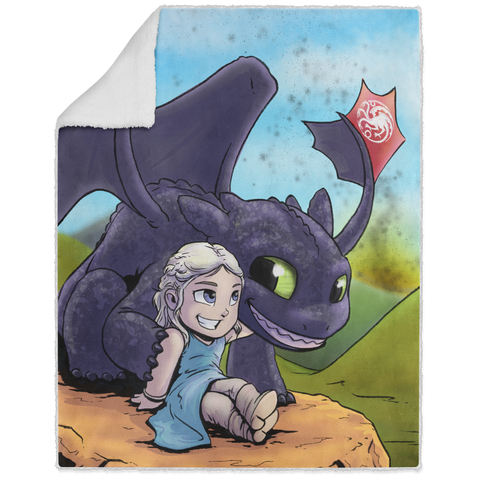 Mother Of Dragons - Graphic - 50x60 Sherpa Blanket