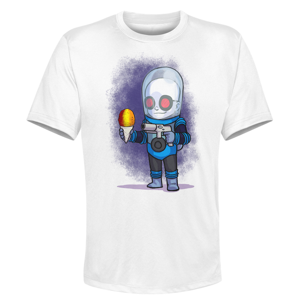 Mr. Freeze - White Performance Graphic Tee