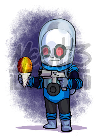 Mr. Freeze - 5x7 Mini Print
