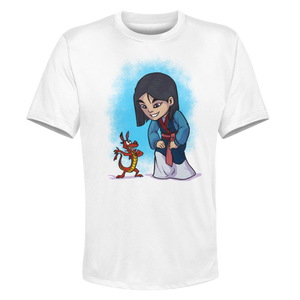 Mulan - White Performance Graphic Tee