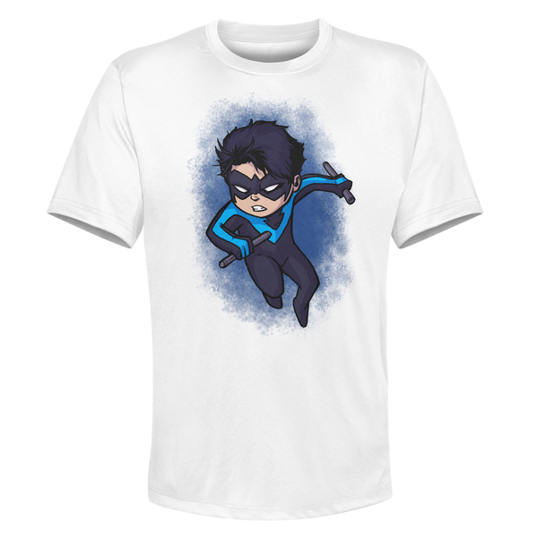 Nightwing - White Performance Graphic Tee