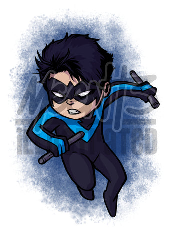 Nightwing - 5x7 Mini Print