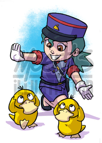Officer Jenny- 5x7 Mini Print