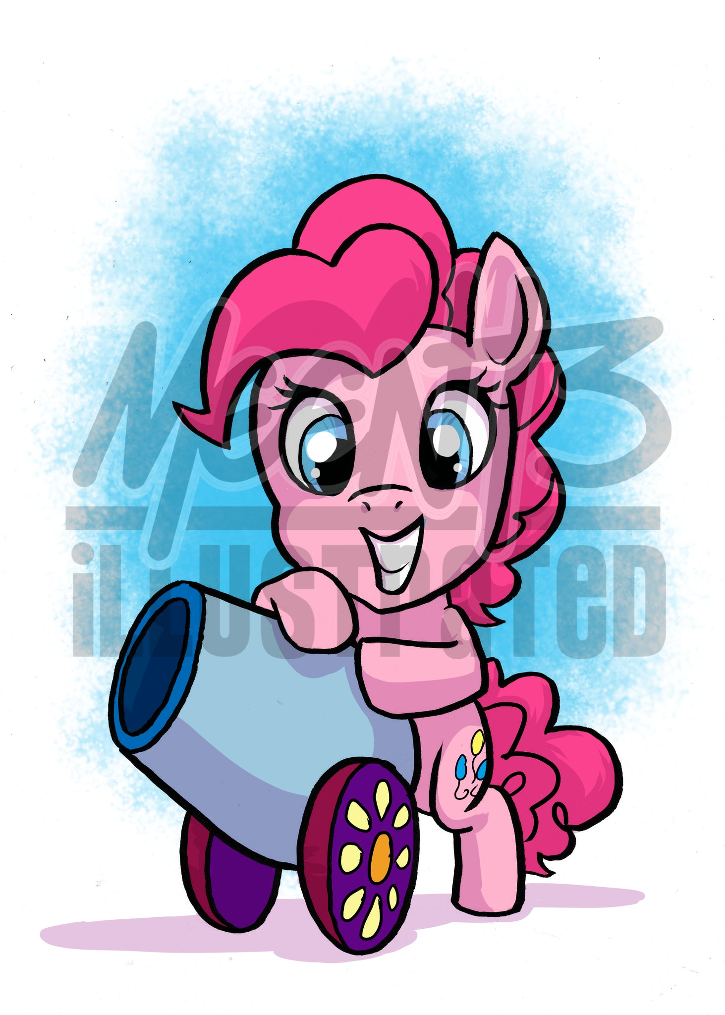 Pinkie Pie- 5x7 Mini Print
