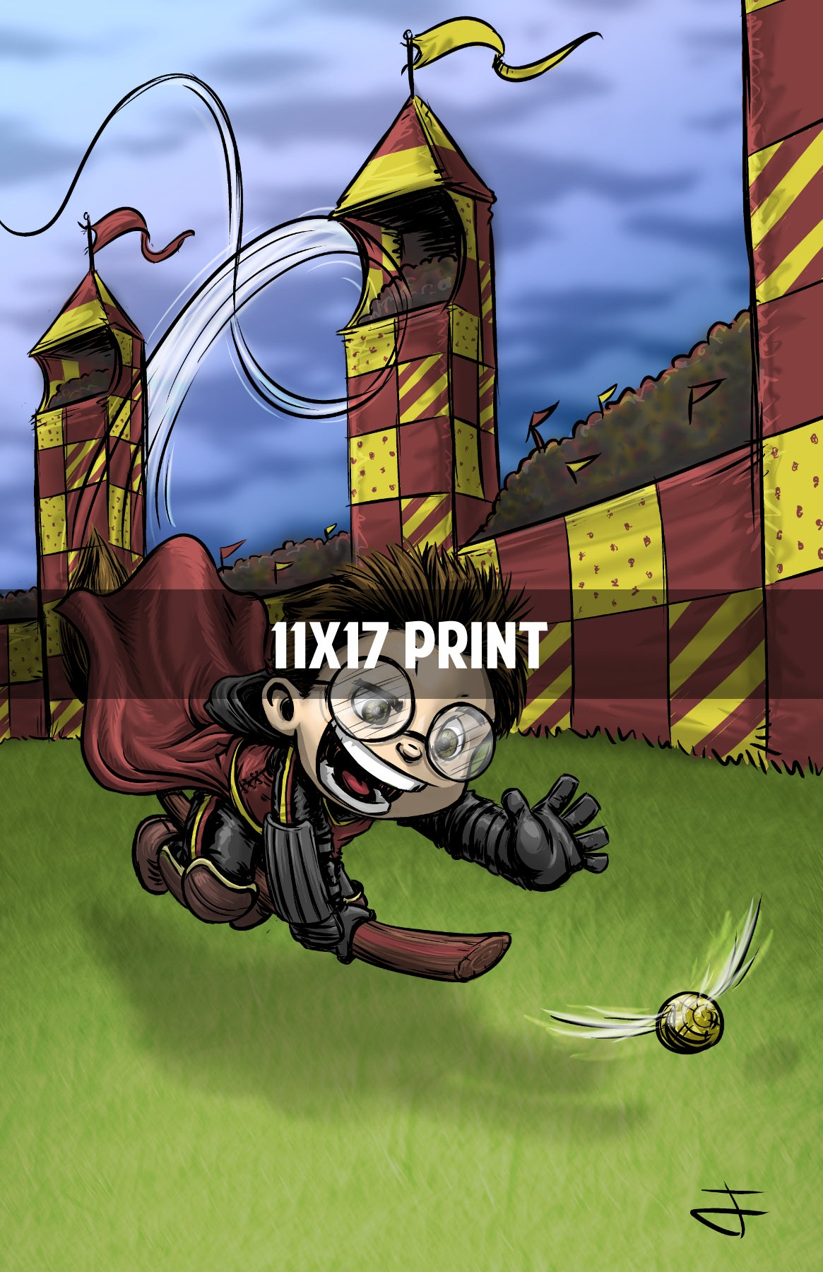 Harry Potter Quidditch - 11x17 Print