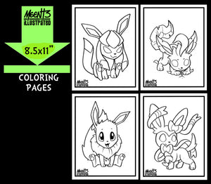 Eeveelution Coloring Pack