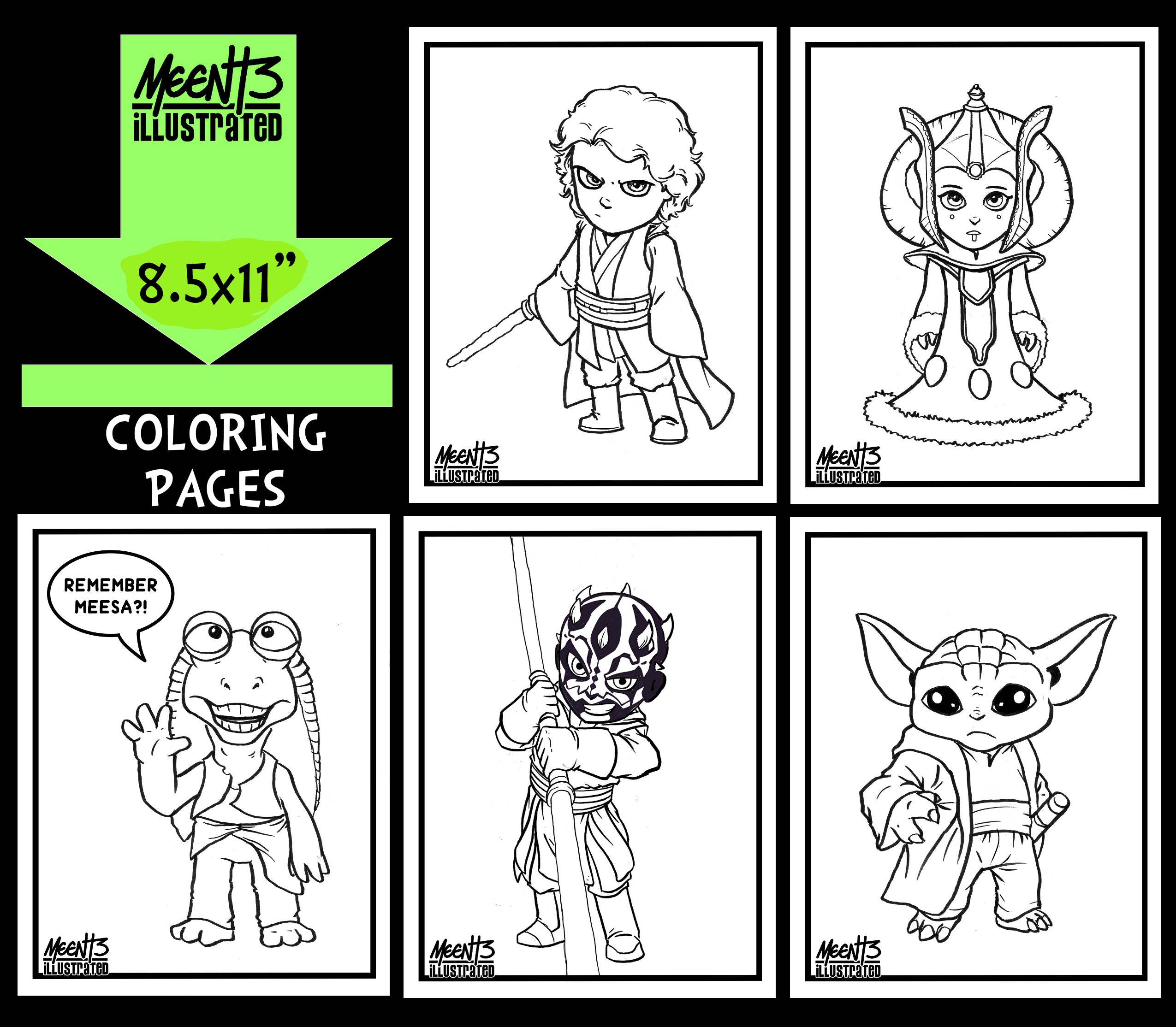 Star Wars SERIES 2 Coloring Pack