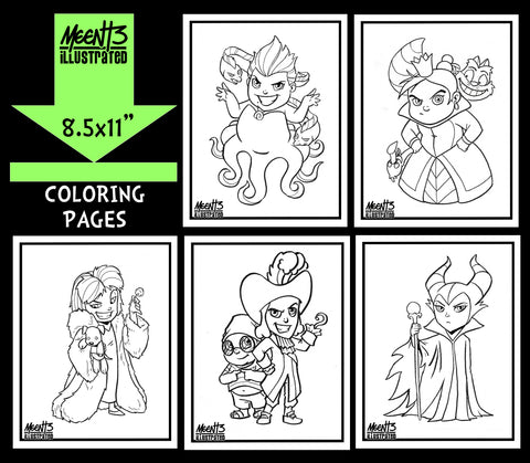 Disney Villains Coloring Pack