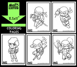 TMNT Series 1 Coloring Pack