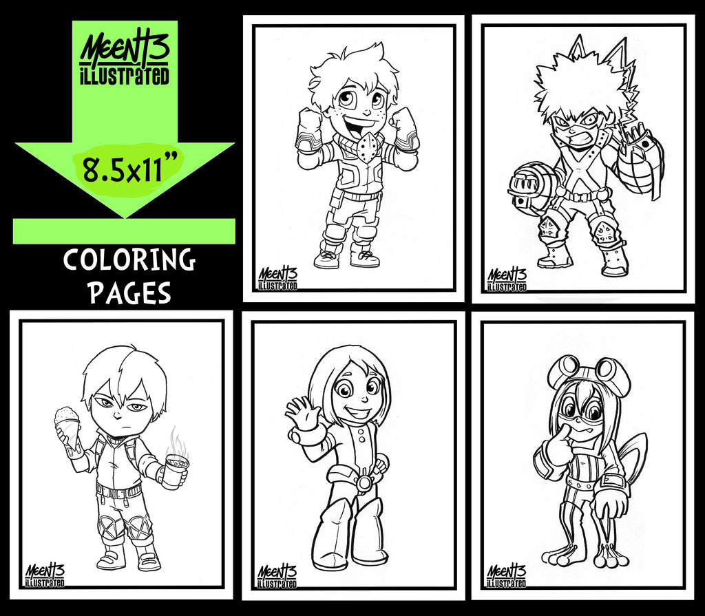 My Hero Academia Coloring Pack