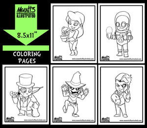 Gotham Villains Series 1 Coloring Pack