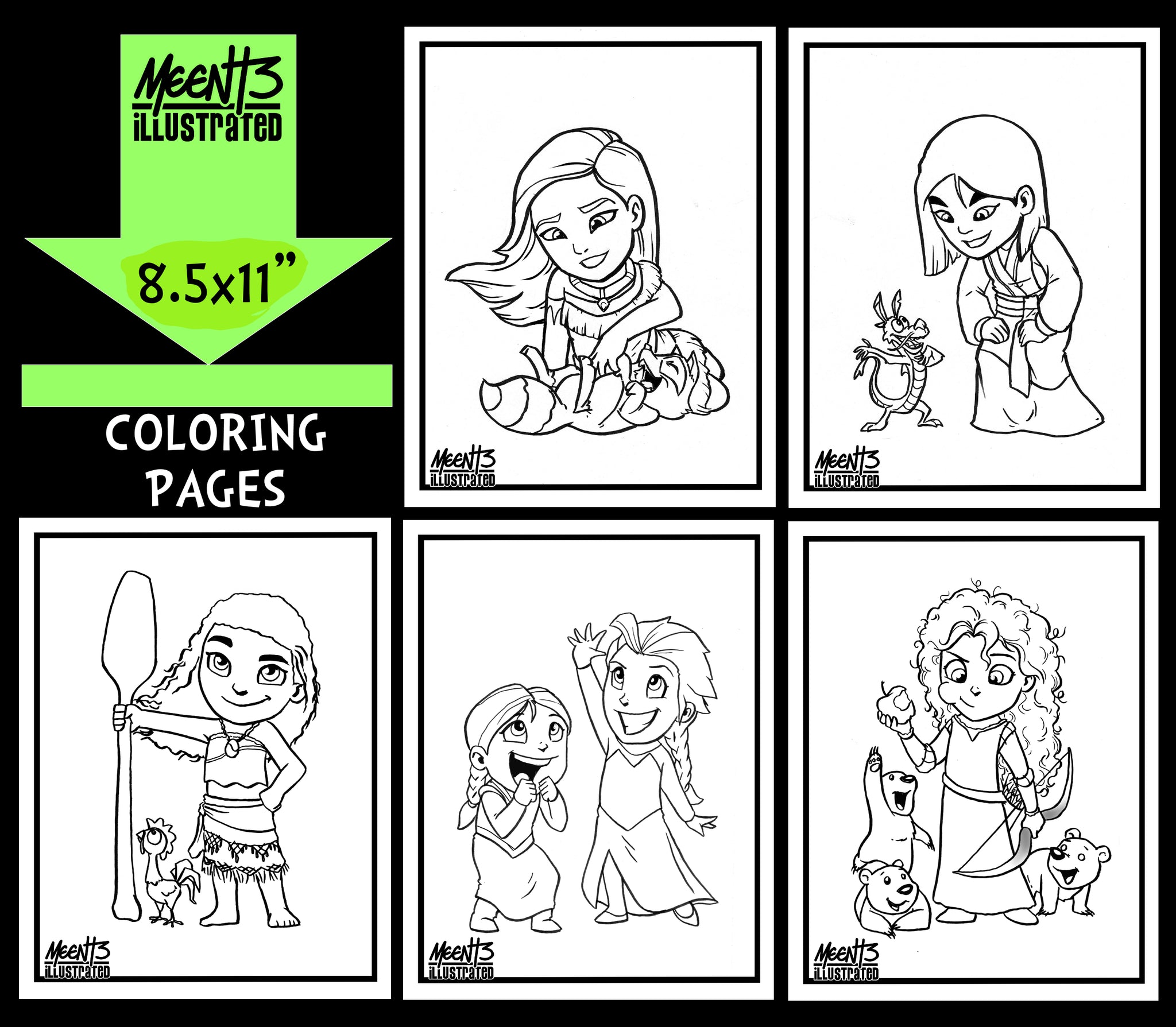 Princesses SERIES 2 Coloring Pack