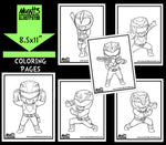 Power Ranger Series 1 Coloring Pack