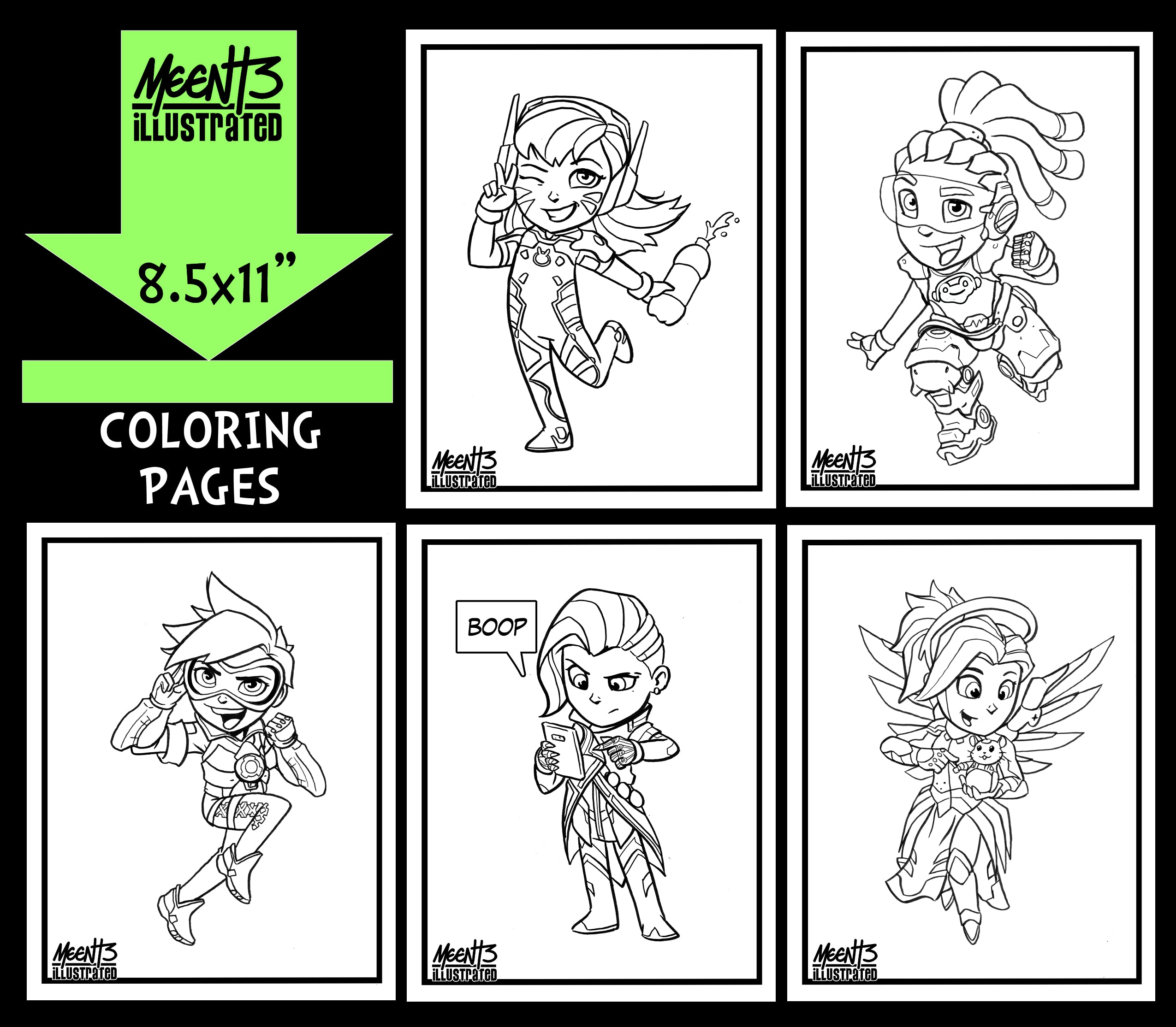 Overwatch Coloring Pack