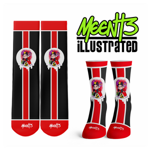 Queen of Hearts - Character - Streetwear Full Poly Crew Socks