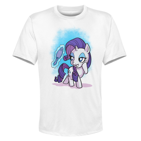 Rarity - White Performance Graphic Tee
