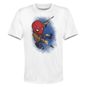 Red Hood - White Performance Graphic Tee