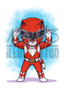 Red Ranger - 5x7 Mini Print