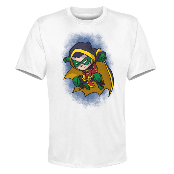 Robin - White Performance Graphic Tee