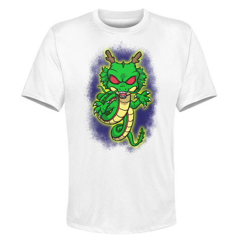 Shenron - White Performance Graphic Tee