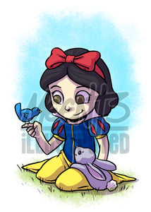 Snow White  - 5x7 Mini Print