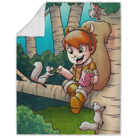 Squirrel Girl - Graphic - 50x60 Sherpa Blanket