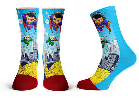 Superman - Streetwear Full Poly Crew Socks