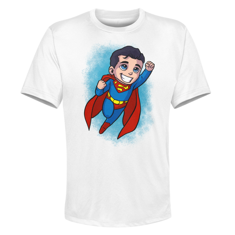 Superman - White Performance Graphic Tee