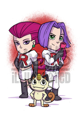Team Rocket - 5x7 Mini Print