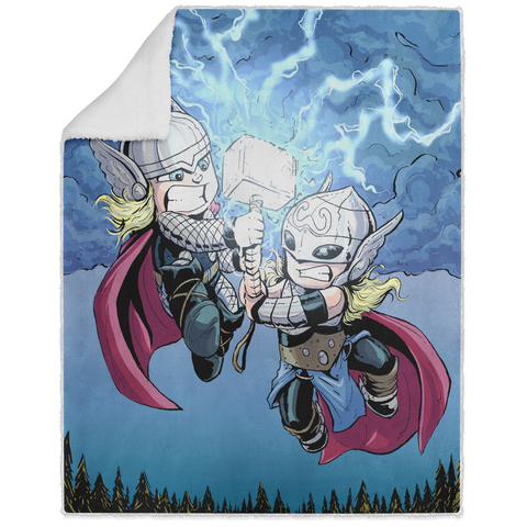 Thors - Graphic - 50x60 Sherpa Blanket