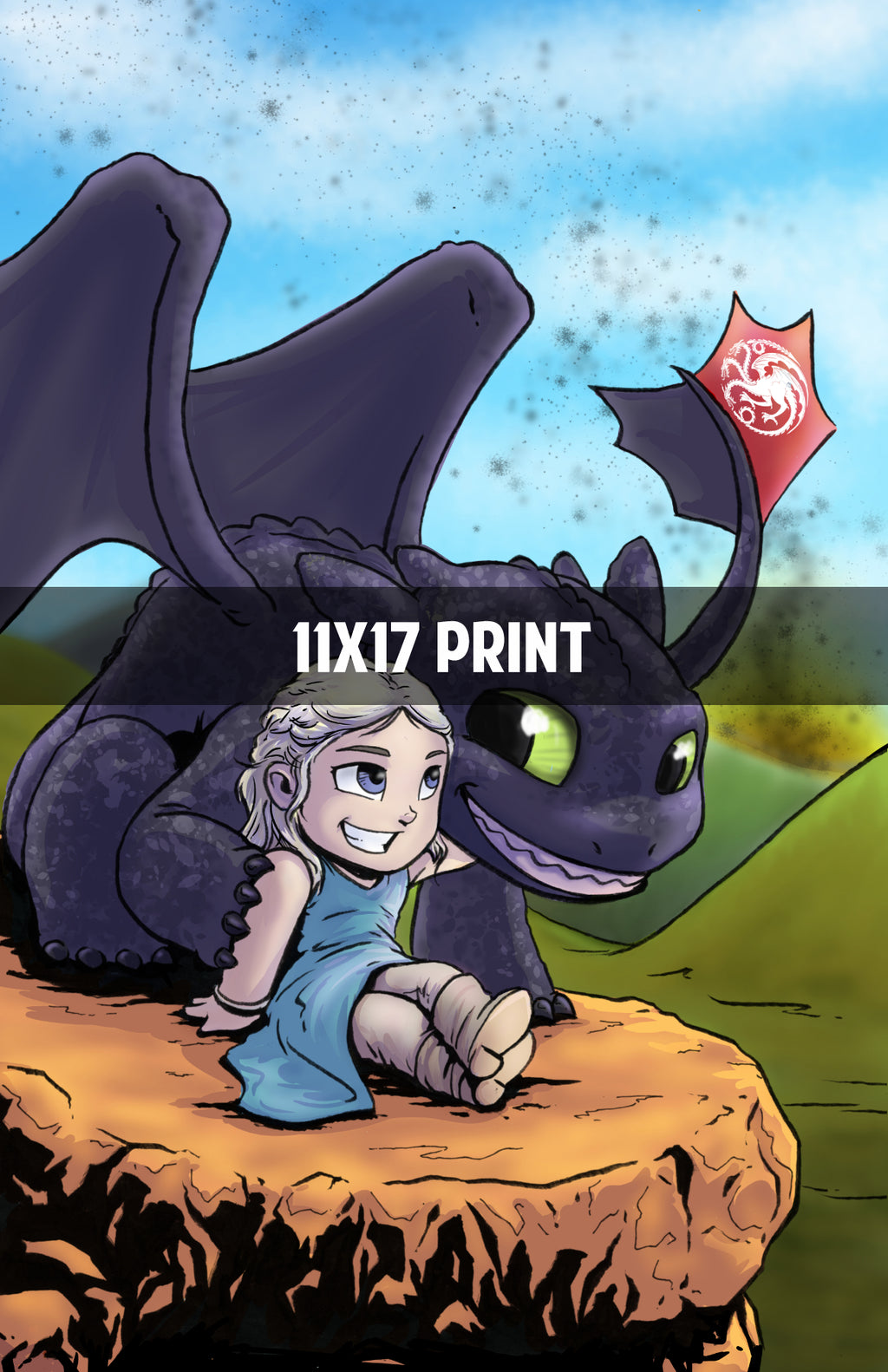 Daenerys and Toothless- 11x17 Print