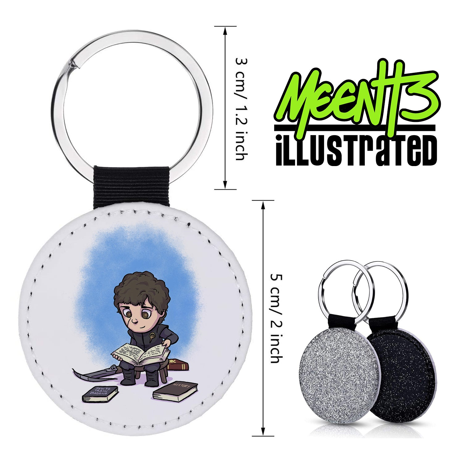 Tyrian - Character Art - PU Leather Keychain Round with Keyring