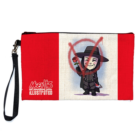 V - Character - Large Pencil/Device Bag