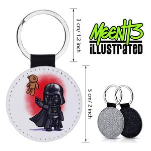 Vader - Character Art - PU Leather Keychain Round with Keyring