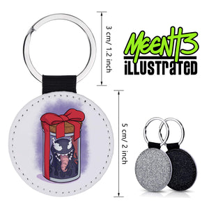 Venom - Character Art - PU Leather Keychain Round with Keyring