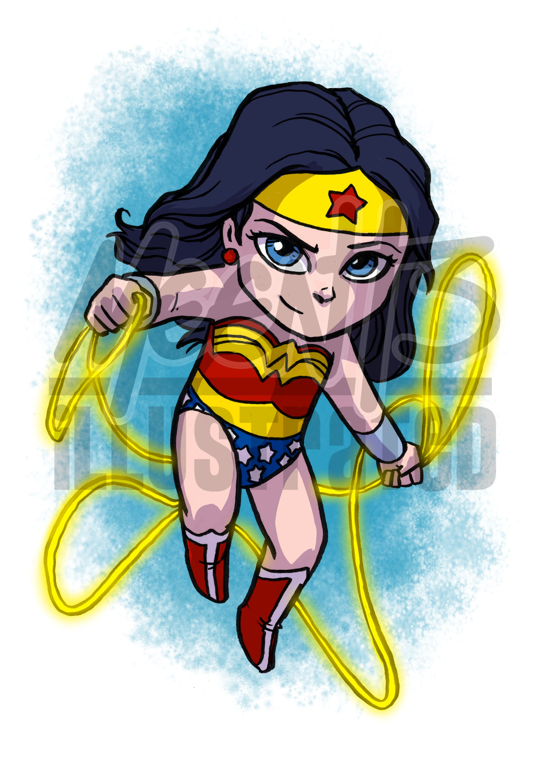 Wonder Woman - 5x7 Mini Print