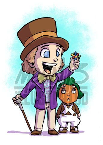 Willy Wonka - 5x7 Mini Print