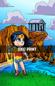 Wonder Woman (Themyscira) - 11x17 Print