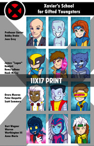 Xmen Yearbook Page - 11x17 Print