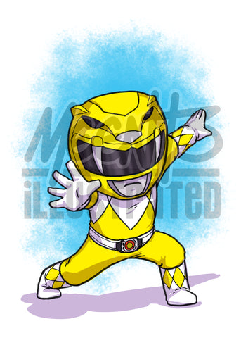 Yellow Ranger - 5x7 Mini Print