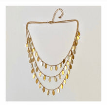 Triple Stand Mixed Metal Necklace